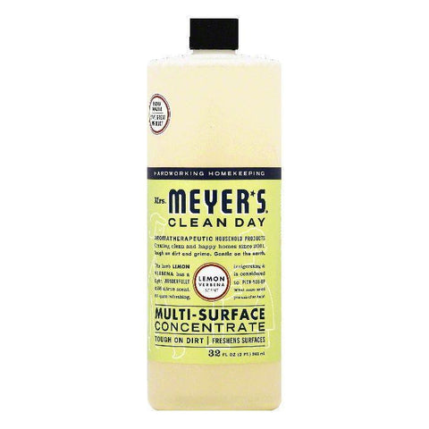Mrs Meyers Lemon Verbena Scent Multi-Surface Concentrate, 32 OZ (Pack of 6)