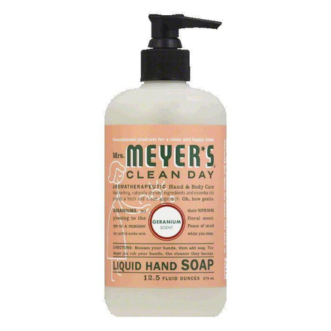 Mrs. Meyers Geranium Hand Soap, 12.5 OZ (Pack of 3)