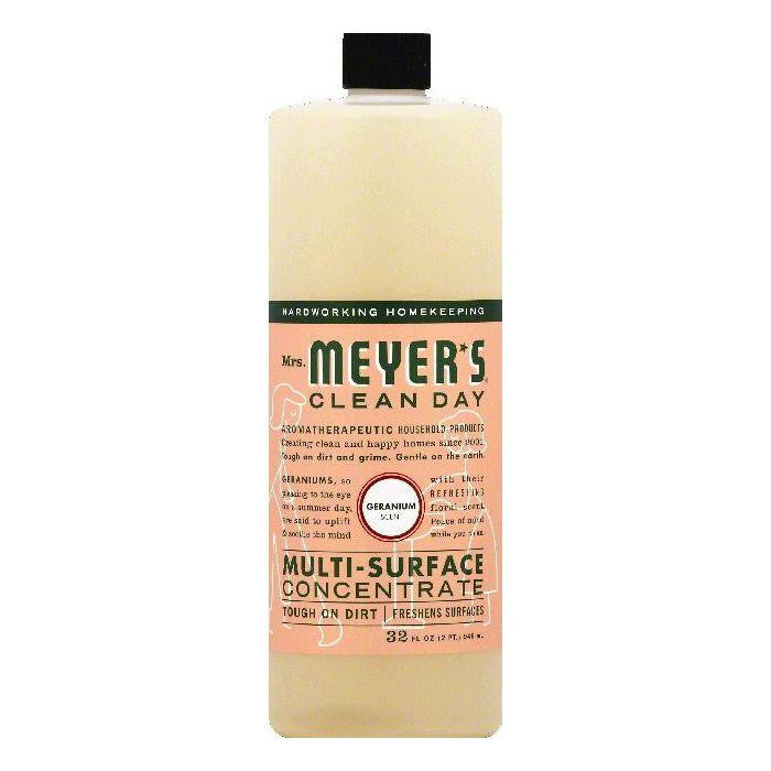 Mrs Meyers Geranium Scent Multi-Surface Concentrate, 32 OZ (Pack of 6)