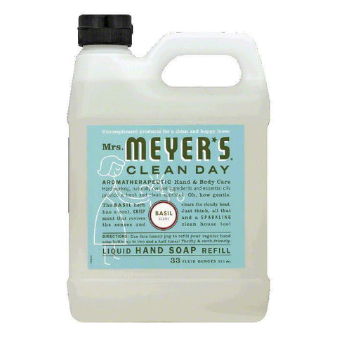 Mrs. Meyers Soap Refil Liquid Basil, 33 OZ (Pack of 3)