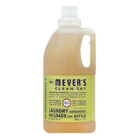 Mrs Meyers Lemon Verbena Scent 2X Concentrated Laundry Detergent, 64 OZ (Pack of 6)