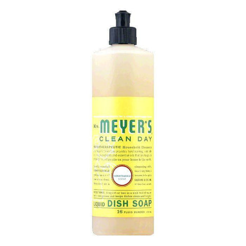 Mrs. Meyers Honeysuckle Liquid Dish Soap, 16 OZ (Pack of 6)