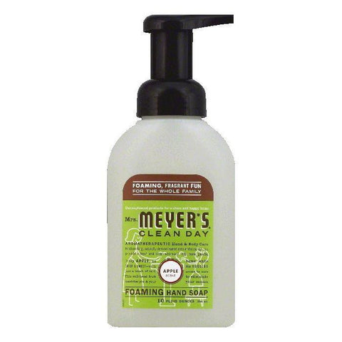 Mrs Meyers Apple Scent Foaming Hand Soap, 10 OZ (Pack of 3)