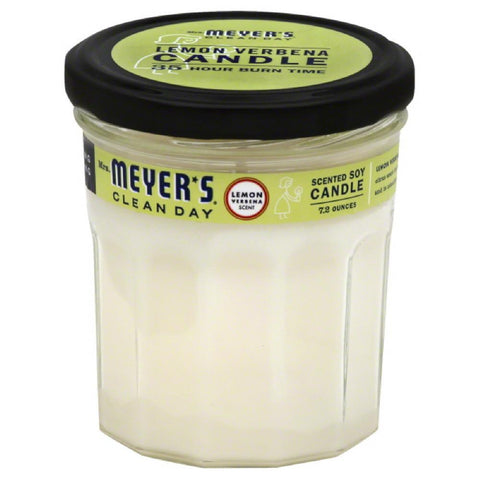 Mrs Meyers Lemon Verbena Scent Soy Scented Candle, 7.2 Oz (Pack of 6)