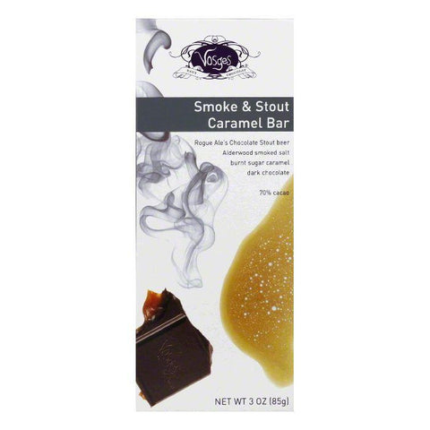 Vosges Smoke & Stout Caramel Bar, 3 Oz (Pack of 12)