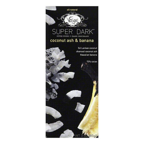 Vosges Haut Chocolate Choc Bar Drk Ccnut Ash&Ba, 3 OZ (Pack of 12)