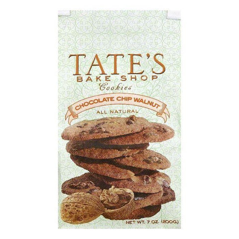 Tates Bake Shop Chocolate Chip Walnut Cookies, 7 OZ (Pack of 6)
