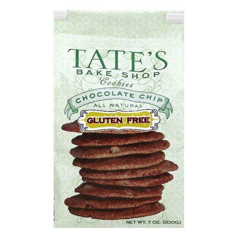 Tates Bake Shop Chocolate Chip Gluten Free Cookies, 7 OZ (Pack of 6)