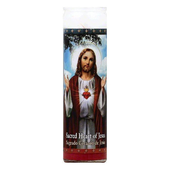 St Jude Candle 8.2 In Sacred Heart of Jesus Candle, 1 ea (Pack of 12)