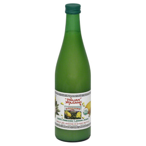 Italian Volcano 100% Organic Lemon Juice, 500 Ml (Pack of 12)