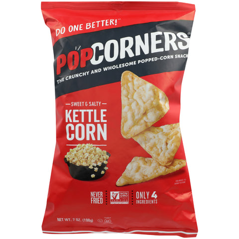 POPCORNERS, Sweet & Salty Carnival Kettle Corn, 7 OZ (Pack of 12)