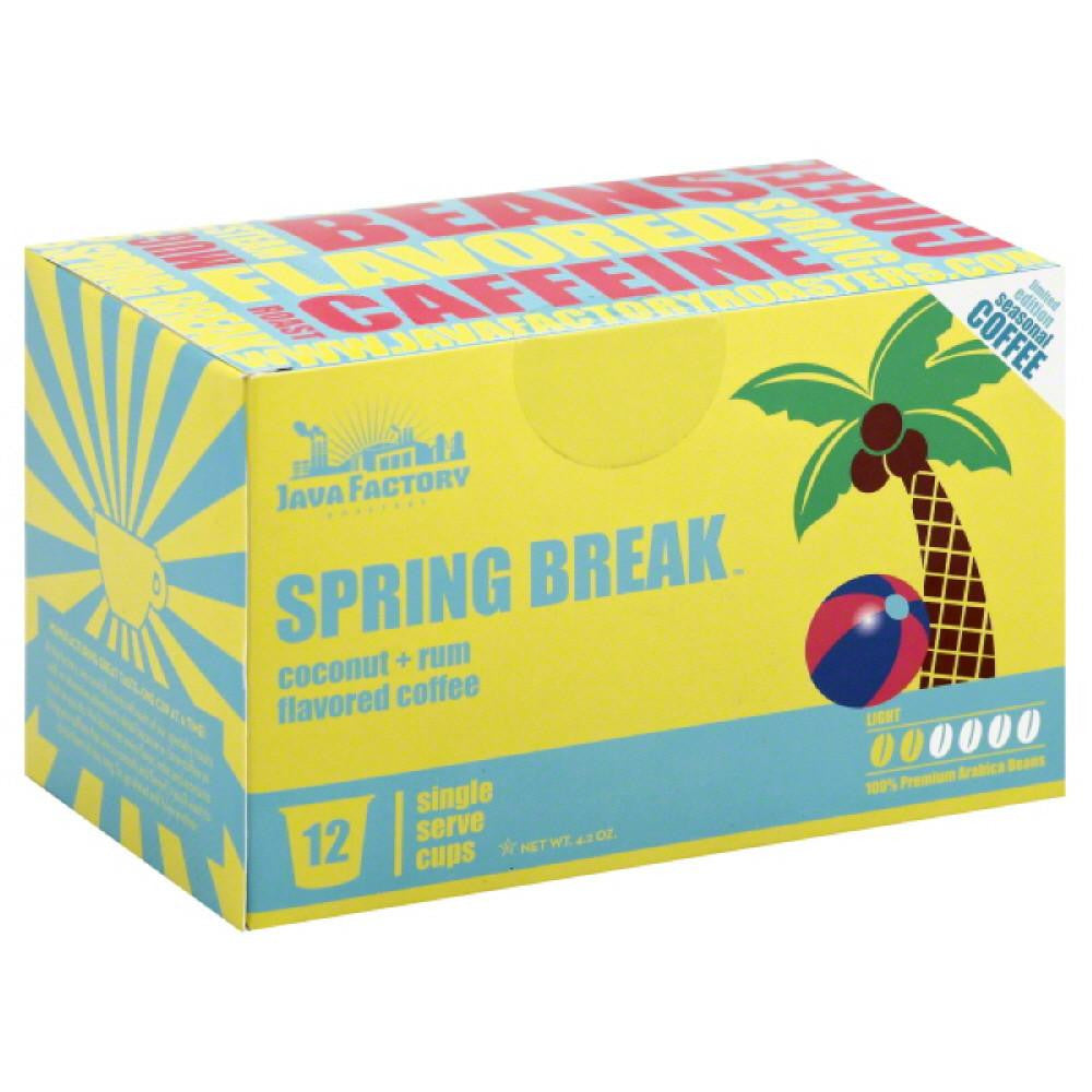 Java Factory Roasters Light Spring Break Coffee Single Serve Cups, 12 Pc (Pack of 6)