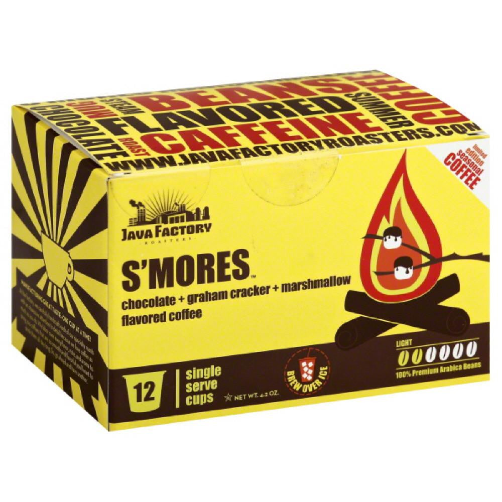 Java Factory Roasters Light S'Mores Coffee Single Serve Cups, 12 Pc (Pack of 6)
