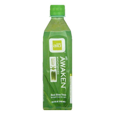 Alo Aloe + Wheatgrass Drink, 16.9 FO (Pack of 12)