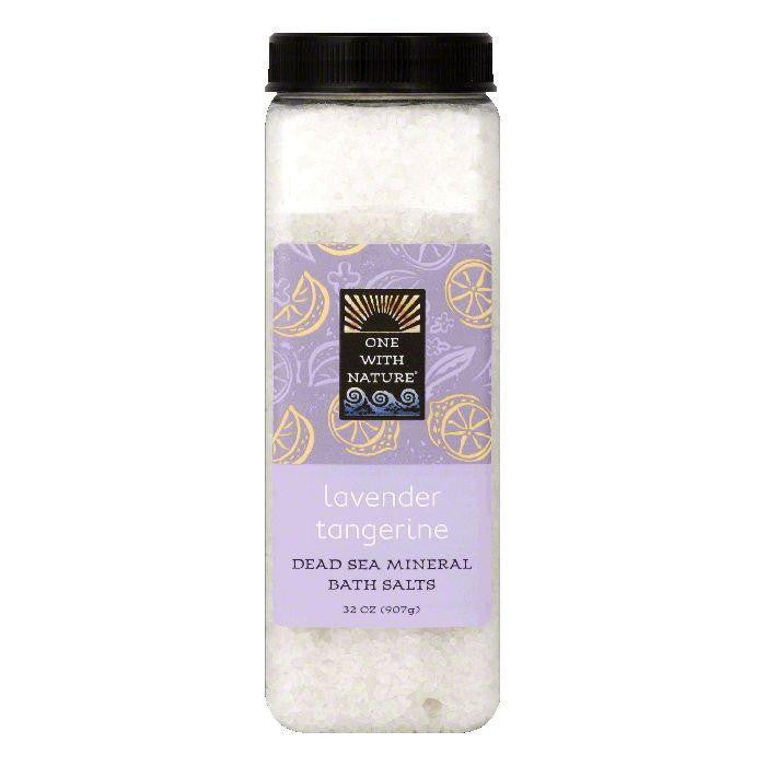 One With Nature Lavender Tangerine Bath Salt, 32 OZ