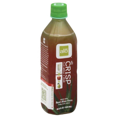 Alo Crisp Fuji Apple + Pear Juice, 16.9 Fo (Pack of 12)
