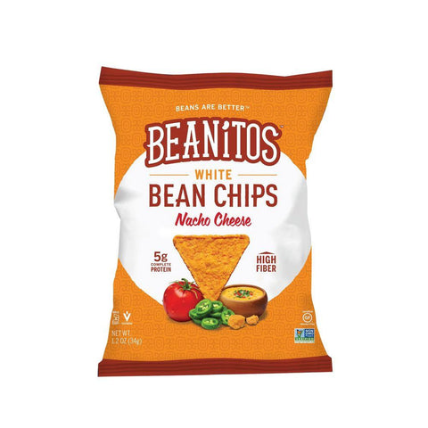 Beanitos White Bean Chips Nacho Cheese, 1.2 OZ (Pack of 24)