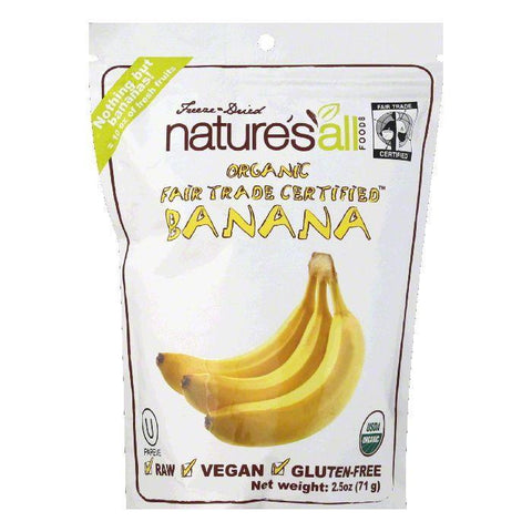 Natures All Foods Freeze & Dried Organic Banana, 2.5 Oz (Pack of 12)