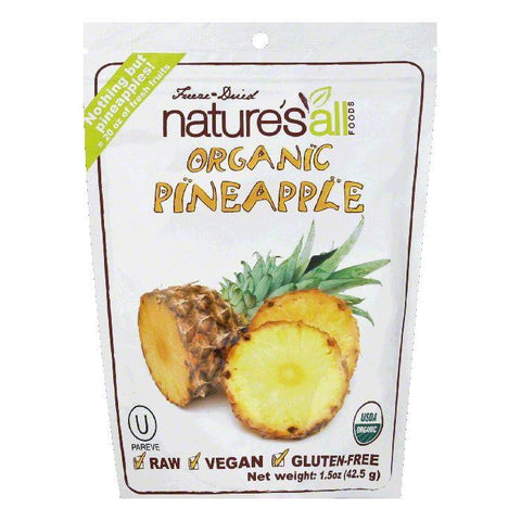 Natures All Foods Freeze & Dried Organic Pineapple, 1.5 Oz (Pack of 12)