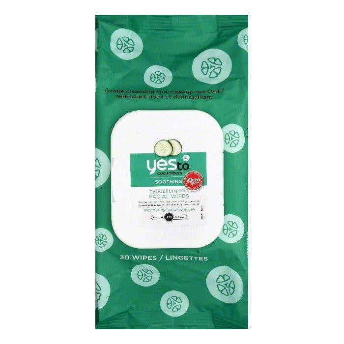 Yes To Hypoallergenic Facial Wipes, 30 ea (Pack of 3)