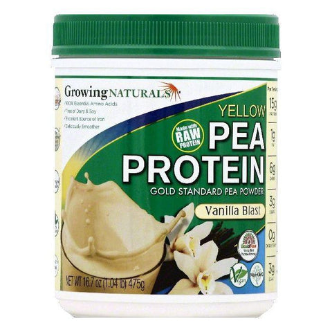 Growing Naturals Vanilla Blast Yellow Pea Protein, 16.7 OZ