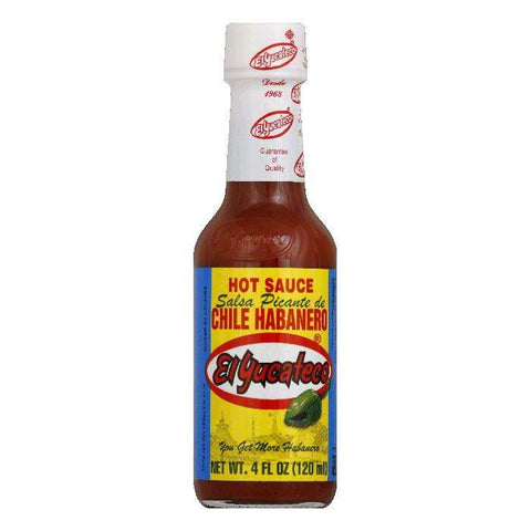 El Yucateco Red Habanero Sauce, 4 OZ (Pack of 12)