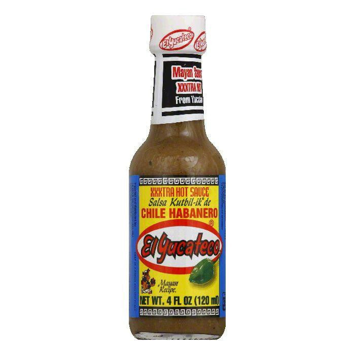 El Yucateco Sauce Habanero Extra Hot, 4 OZ (Pack of 12)