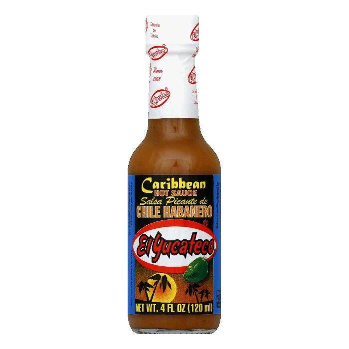 El Yucateco Caribbean Habanero Hot Sauce, 4 OZ (Pack of 12)