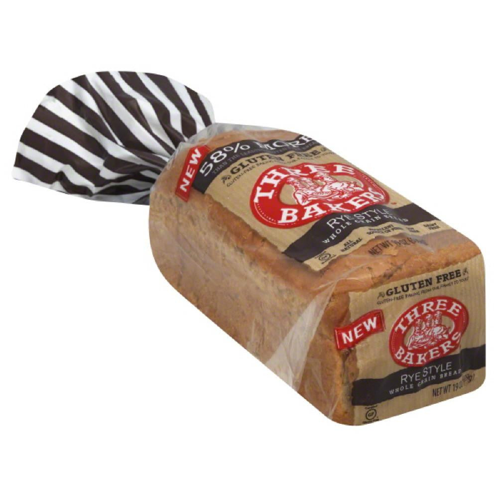 Three Bakers Rye Style Whole Grain Bread, 17 Oz (Pack of 6)