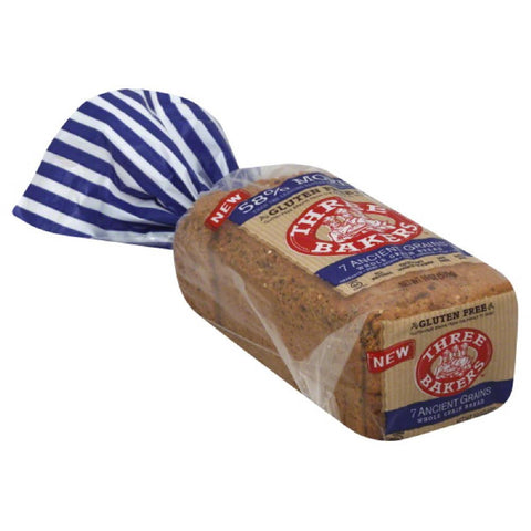 Three Bakers 7 Ancient Grains Whole Grain Bread, 17 Oz (Pack of 6)
