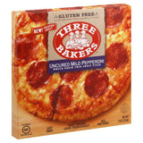 Three Bakers Uncured Mild Pepperoni Whole Grain Thin Crust Pizza, 9 Oz (Pack of 8)