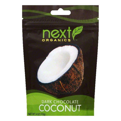 Next Organics Coconut drk chocolate org, 4 OZ (Pack of 6)
