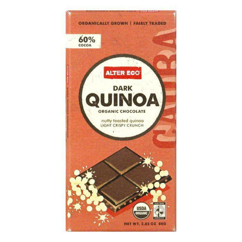 Alter Eco Dark Quinoa Bar, 2.82 OZ (Pack of 12)