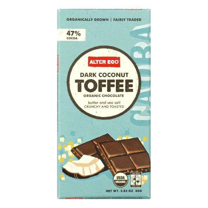 Alter Eco Coconut Toffee Organic Dark Chocolate, 2.82 Oz (Pack of 12)