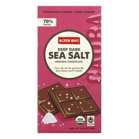 Alter Eco Deep Dark Sea Salt Organic Chocolate, 2.82 Oz (Pack of 12)