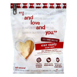 I and love and you Ear Candy Cow Ears Dog Chews, 5 ea (Pack of 6)