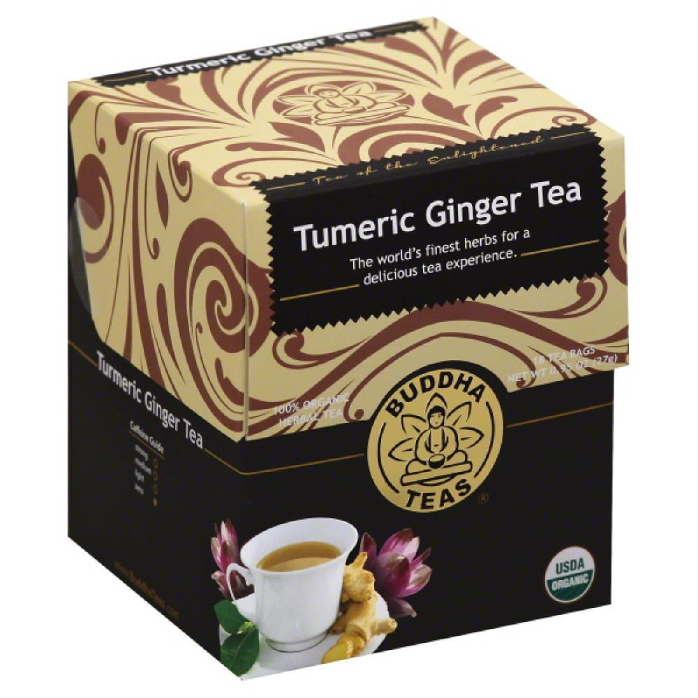 Buddha Teas Tumeric Ginger Herbal Tea Bags, 18 Ea (Pack of 6)