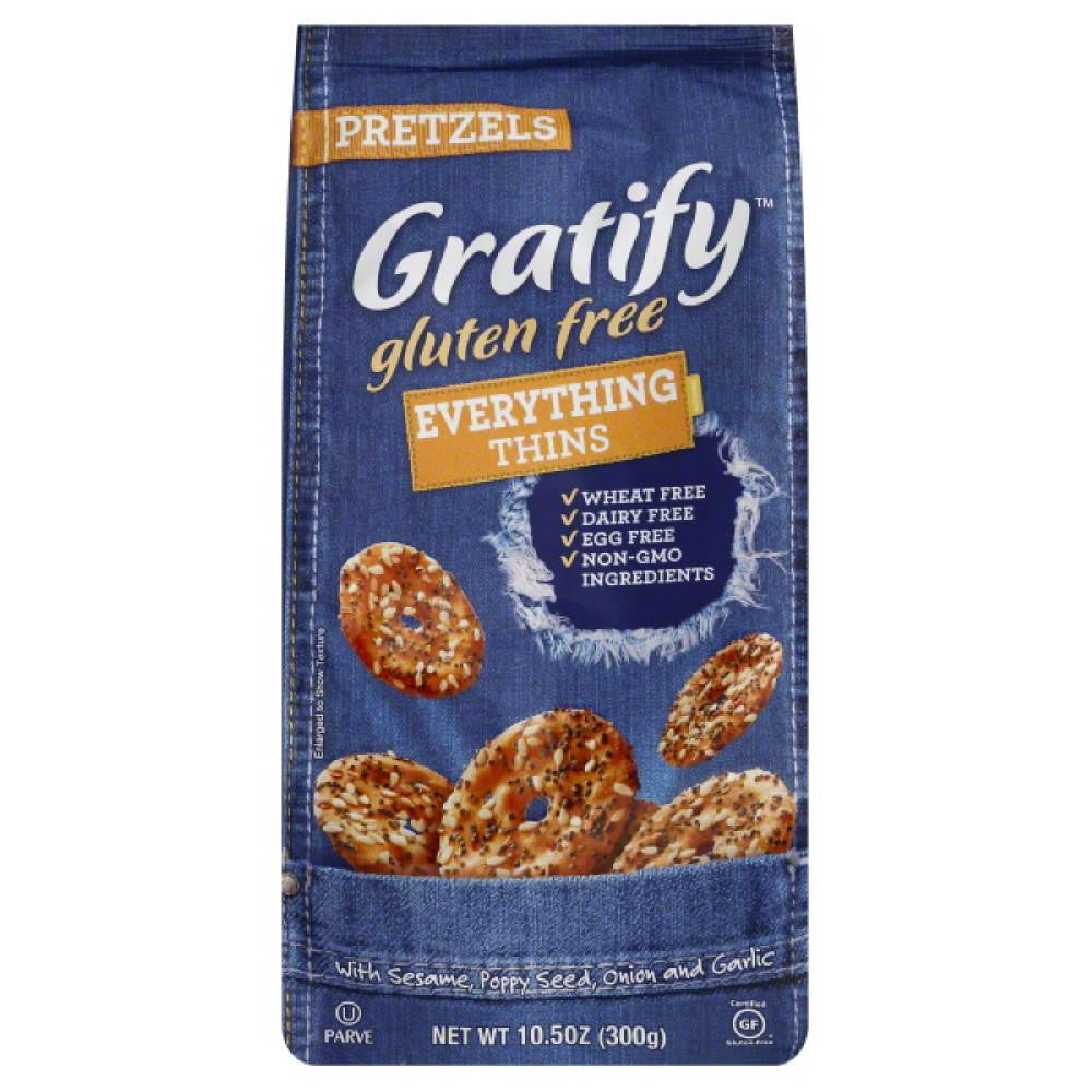 Gratify Everything Thins Pretzels, 10.5 Oz (Pack of 6)