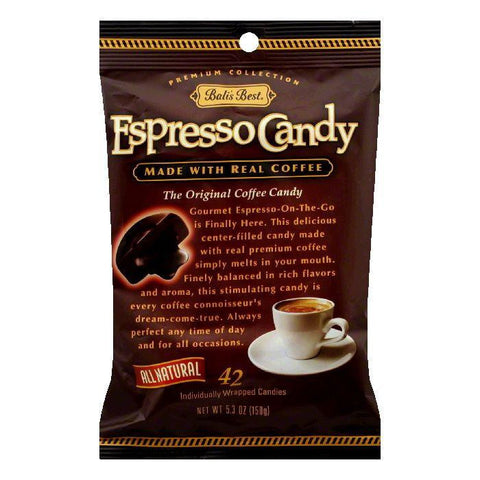 BalisBest Coffee Candy Espresso 100% Natural, 5.3 OZ (Pack of 12)