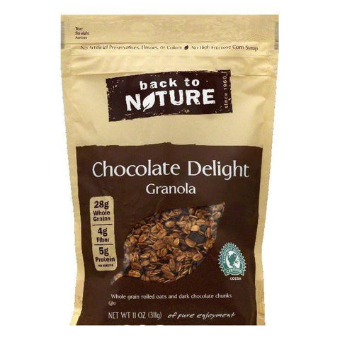 Back To Nature Chocolate Delight Granola, 11 OZ (Pack of 6)