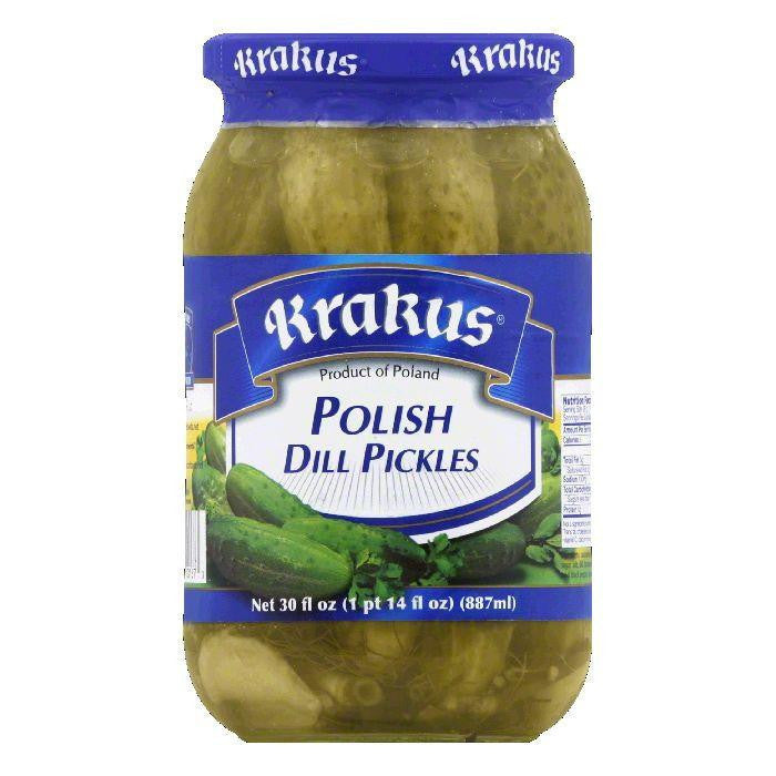 Krakus Polish Dill Pickles, 30 FO (Pack of 12)