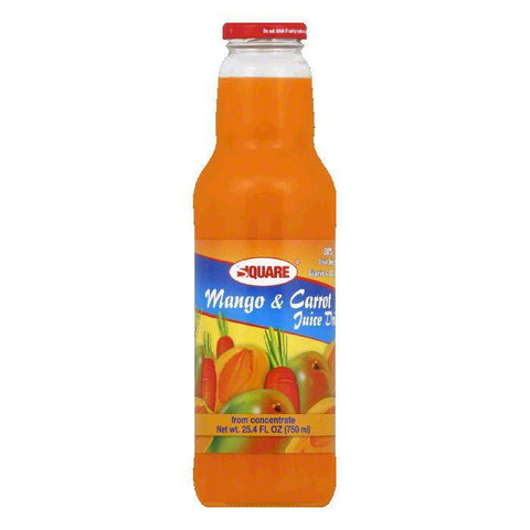 Square Mango & Carrot Juice Drink, 25.4 FO (Pack of 8)