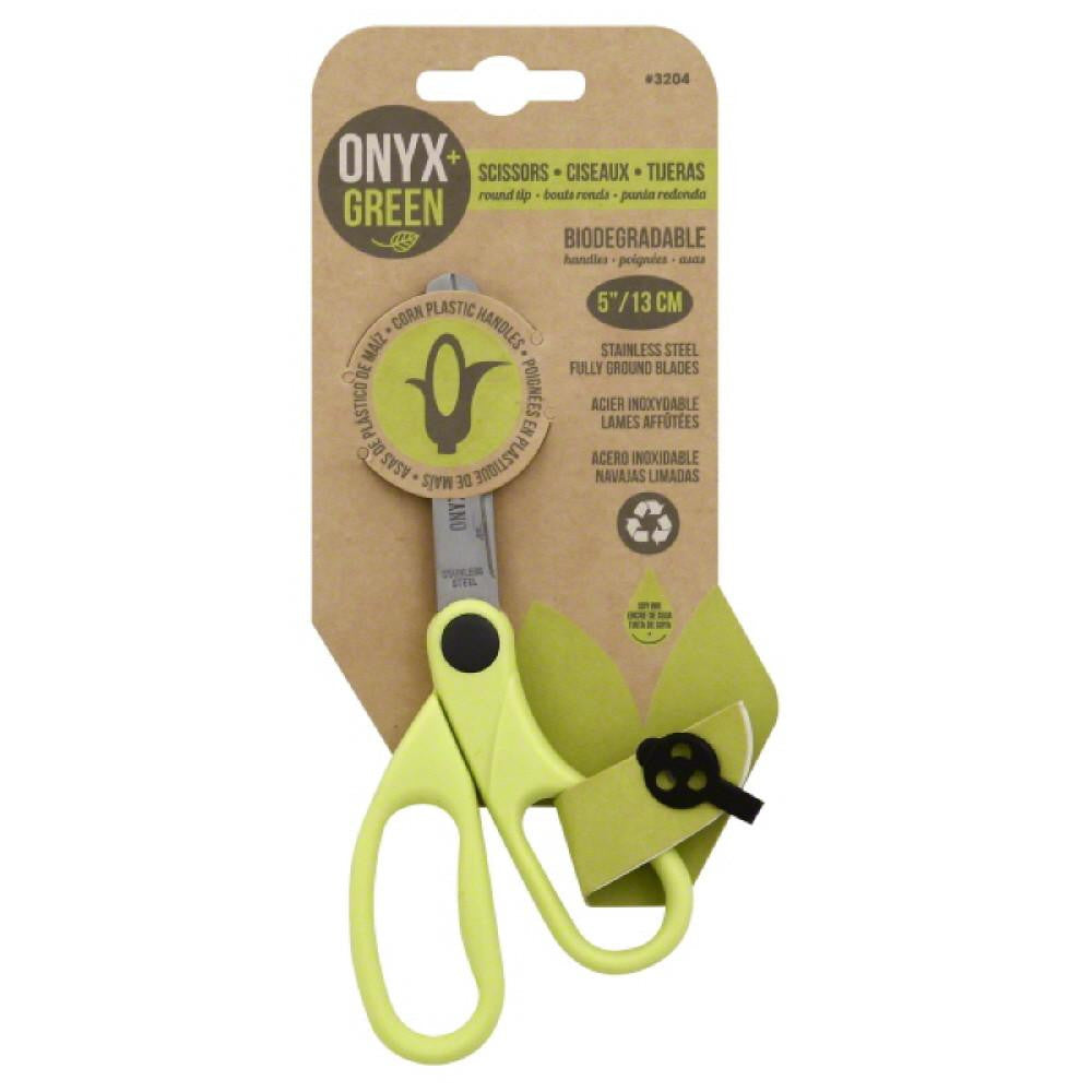 Onyx + Green 5 Inch Round Tip Scissors, 1 Pc (Pack of 12)
