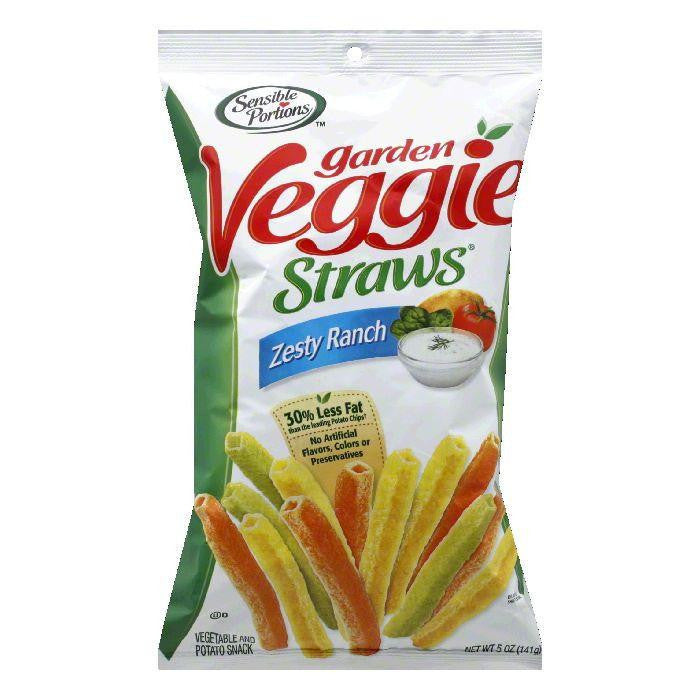 Sensible Portions Zesty Ranch Veggie Straw, 5 OZ (Pack of 12)