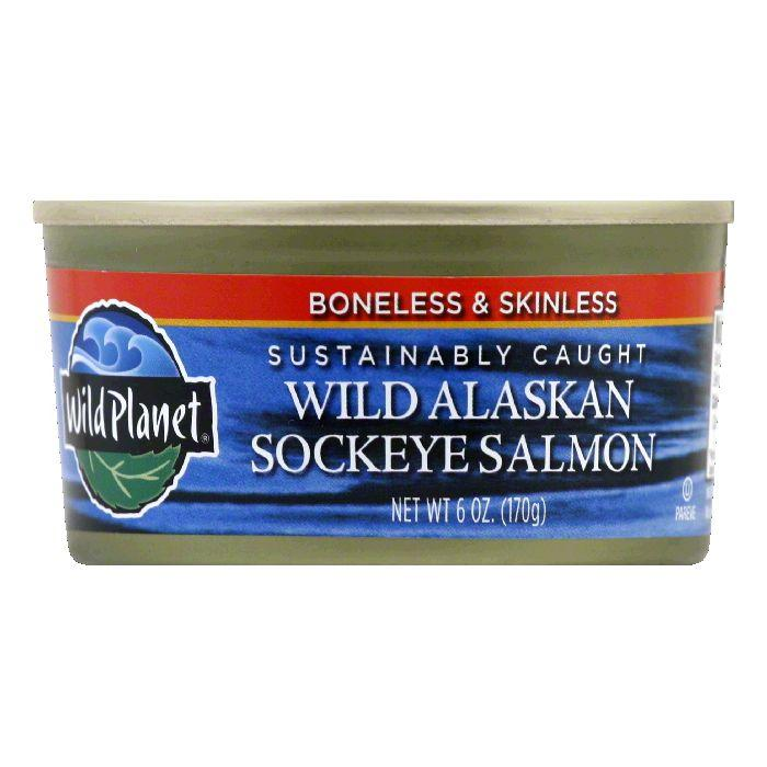 Wild Planet Wild Sockeye Salmon, 6 OZ (Pack of 12)