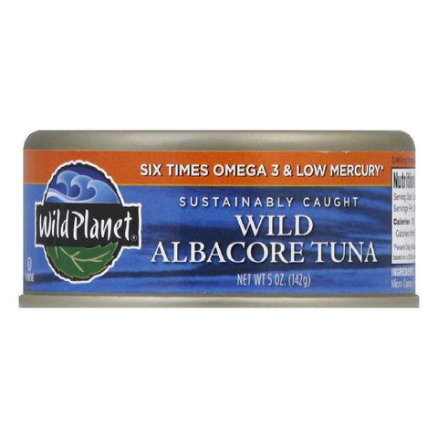 Wild Planet Low Mercury Wild Albacore Tuna, 5 OZ (Pack of 12)