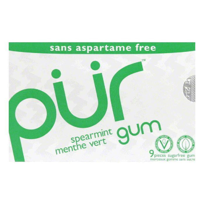 Pur Gum Spearmint Gum, 9 PC (Pack of 12)