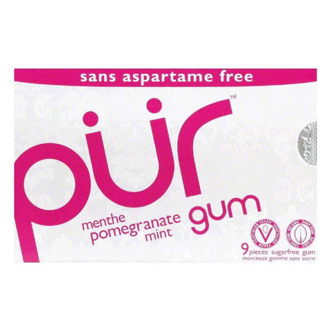 Pur Gum Gum Pomegranate Mint, 9 PC (Pack of 12)