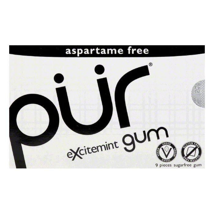 Pur Gum Gum Wintergreen, 9 PC (Pack of 12)