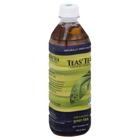 Teas Tea Unsweetened Pure & Smooth Green Tea, 16.9 Fo (Pack of 12)